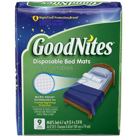 GoodNites Disposable Bed Mats - 9's