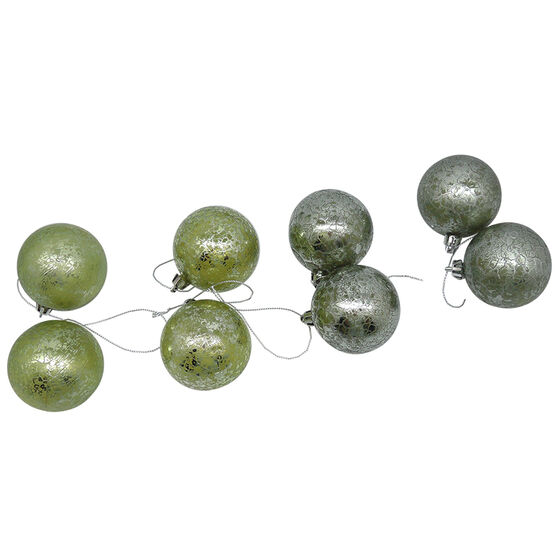Crackle Ball Ornament - Set of 2 - CE4104-59S2 - Assorted