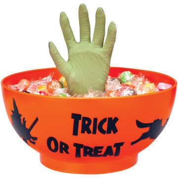 Halloween Monster Hand Trick or Treat Party Bowl