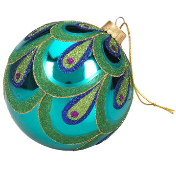 Winter Wishes Elegance Ball Ornament - Peacock