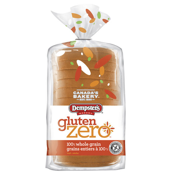 Dempster's Bakery Gluten Zero Bread - 100% whole Grain - 340g
