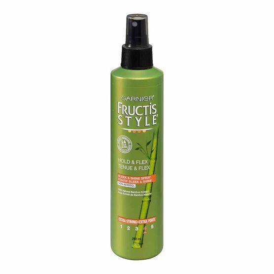 Garnier Fructis Style Hold & Flex Sleek & Shine Non-Aerosol Extra-Strong Hairspray - 250ml