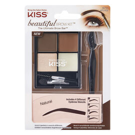 Kiss Beautiful Brow Kit - Medium Brown