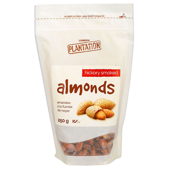 London Plantation Almonds - Hickory Smoke - 250g