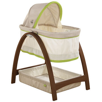 Bentwood Bassinet with Motion - Baby Time