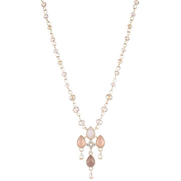 Lonna & Lilly 16-inch Beaded Pendant Necklace - Peach
