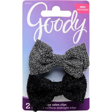 Goody FashioNow Midnight Edge Bow Tie Salon Clips - 8452