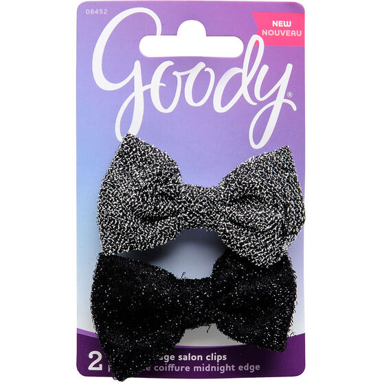 Goody FashioNow Midnight Edge Bow Tie Salon Clips - 8452