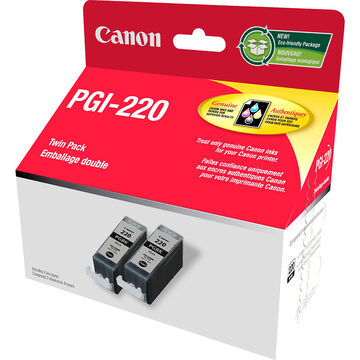Canon PGI-220 Black Ink Cartridge - Twin Pack - 2945B006