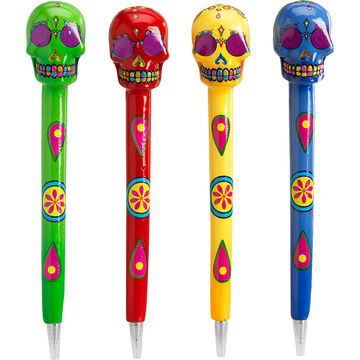 Hand Painted Candy Skull Pens - Assorted