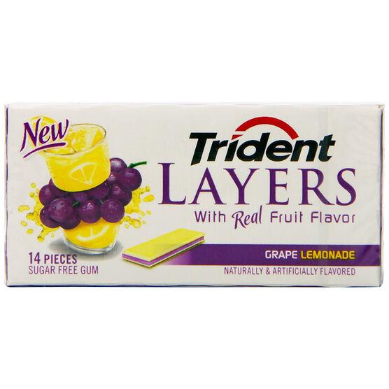 Trident Layers - Grape Lemonade - 14 piece