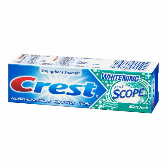 Crest Whitening Plus Scope Toothpaste - Minty Fresh Striped - 20ml