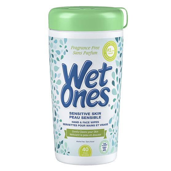 Wet Ones Sensitive Skin Moist Wipes - 40's