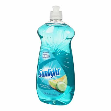 Sunlight Cucumber Melon Dishwashing Liquid - 740ml