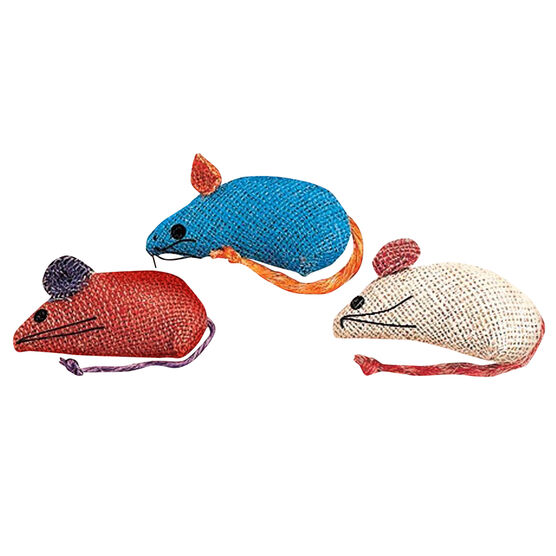 Burlap Mice - 3 pack