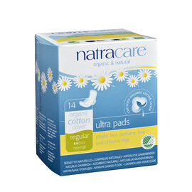 Natracare Ultra Pads with Wings - Regular - 14's