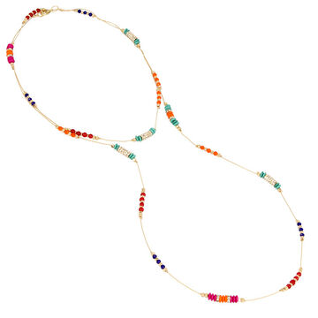 Haskell Spaced Bead Necklace - Multi