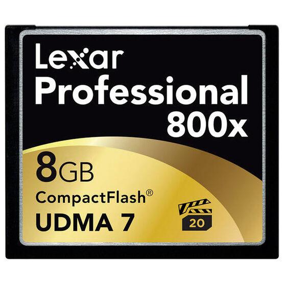 Lexar 800x Pro CompactFlash Memory Card - 8GB
