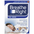 Breathe Right Nasal Strips - Tan - Large - 30's