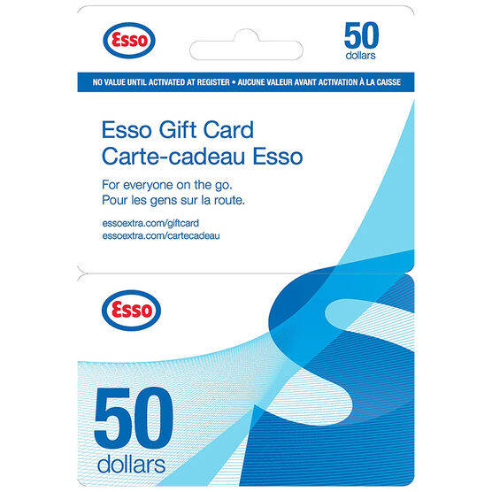 how to add esso gift card to app