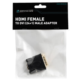 Certified Data HDMI Female to DVI (24+1) Male Adapter - HDMI-DVI241M