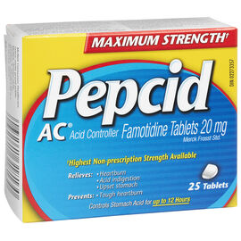 Pepcid AC Acid Controller - Maximum Strength - 25 tablets