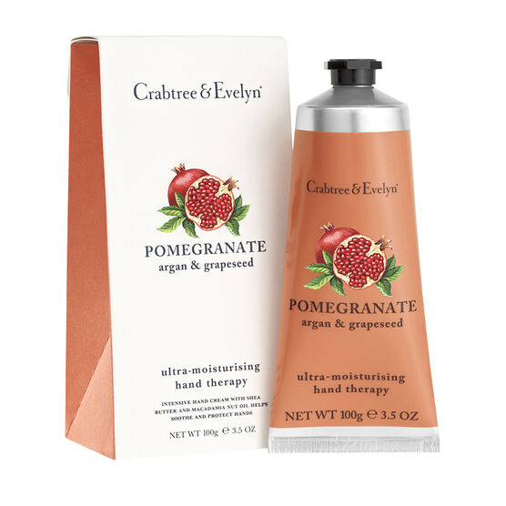 Crabtree & Evelyn Pomegranate, Argan & Grapeseed Ultra Moisturising Hand Therapy - 100g