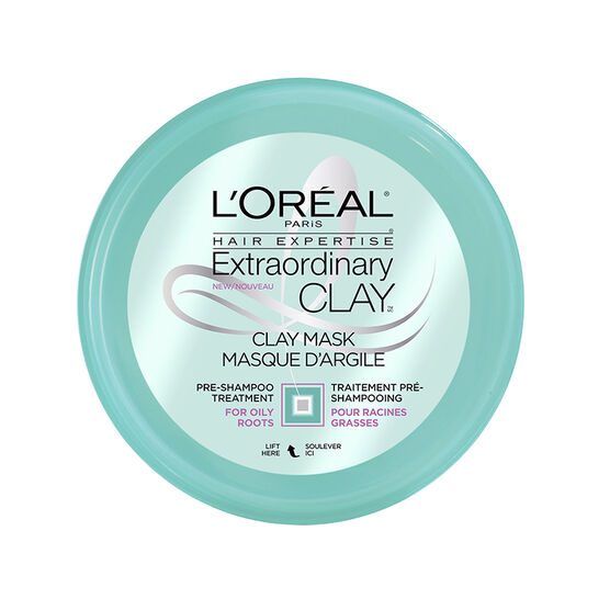 L'Oreal Extraordinary Clay Mask Pre-Shampoo Treatment - Oily Roots - 150ml