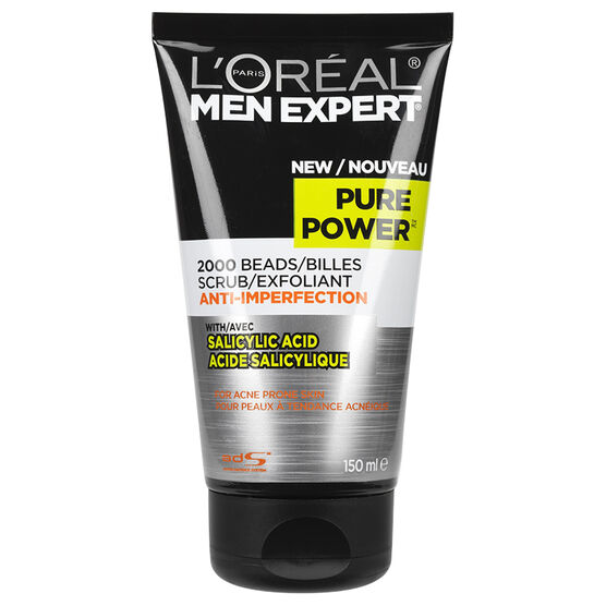 L'Oreal Men Expert Scrub for Acne Prone Skin - Pure Power - 150ml