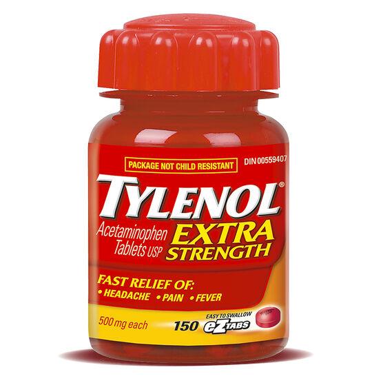 Tylenol* EZ Tabs - Extra Strength - 500mg/150's