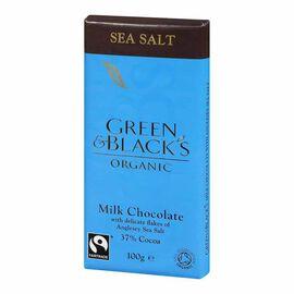 Green & Blacks Organic Chocolate - Milk Chocolate with Anglesey Sea Salt - 100g