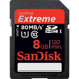 SanDisk Extreme 8 GB SDHC UHS-I Card - SDSDXS-008G-X46S