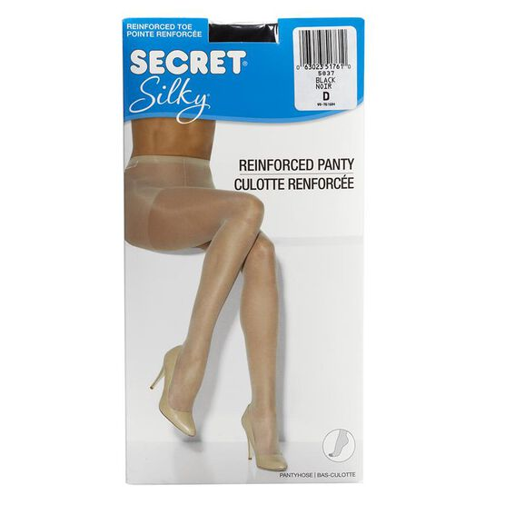 Secret Regular Silky Sheer Pantyhose - D - Black