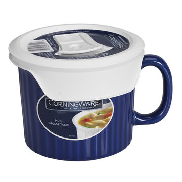 CorningWare Pop-in Mug with Lid - Blueberry