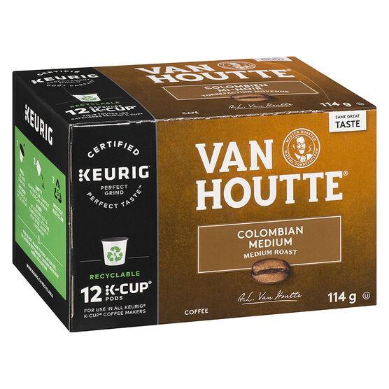 K-Cup Van Houtte Medium Roast Coffee - Columbian - 12 Servings