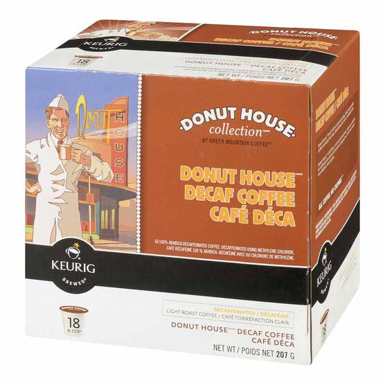 K-Cup Green Mountain Coffee Pods - Donut House Decaf - 18's