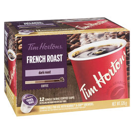 Tim Hortons French Roast K-Cup Coffee - Dark Roast - 12 Servings