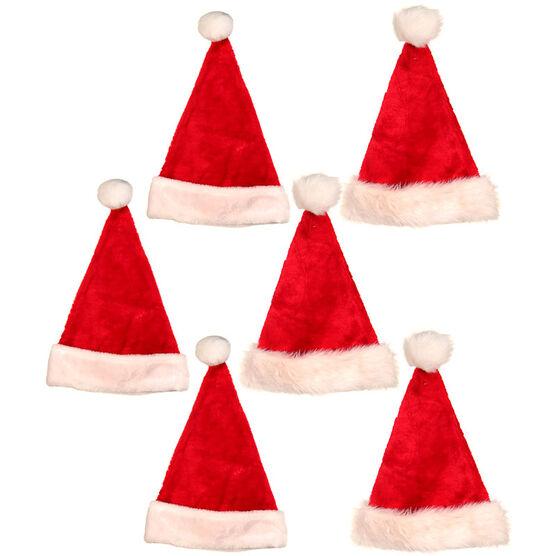 Christmas Plush Santa Hat - Assorted