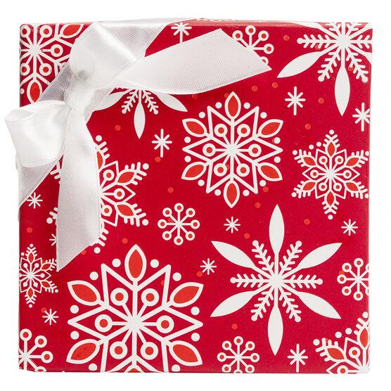 Red Snowflake Box - Square
