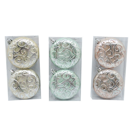 Pearl Plated Swirl Ornament - CG3363-34A2 - Assorted