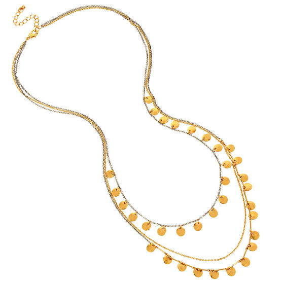 Haskell Three Row Necklace - Gold