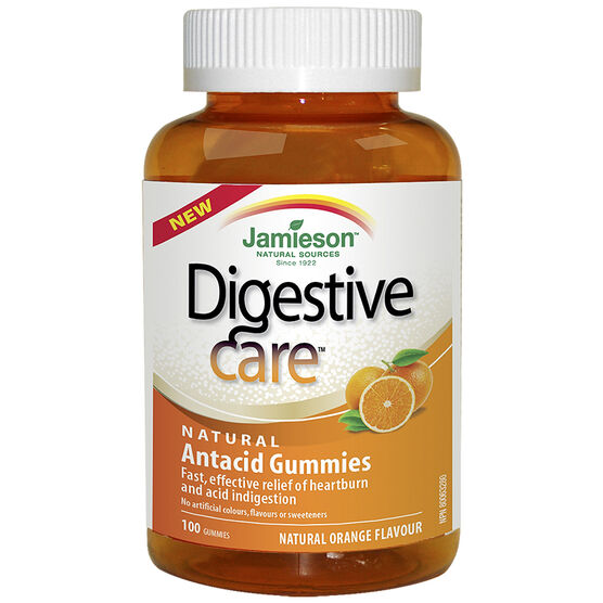 Jamieson Digestive Care Natural Antacid Gummies - Natural Orange - 100's