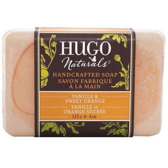 Hugo Naturals Hand Crafted Bar Soap Vanilla & Orange - 113g