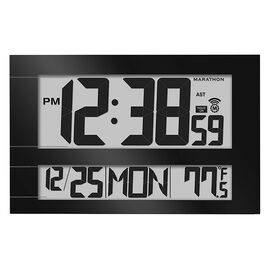 Marathon Jumbo Atomic Clock - Black - CL030025BK