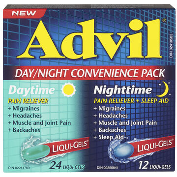 Advil Day Night Convenience Pack Pain Reliever with Sleep Aid - 36's