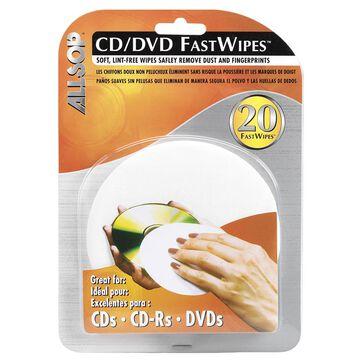 Allsop CD FastWipes CD Cleaner Kit - 20 pack