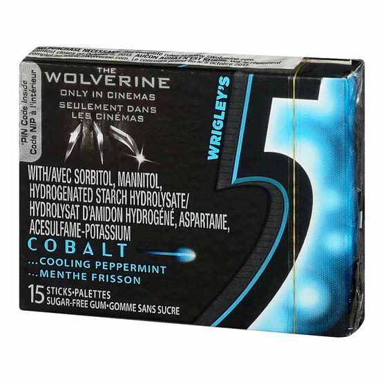 Wrigley's 5 Gum - Cobalt - 15 pieces