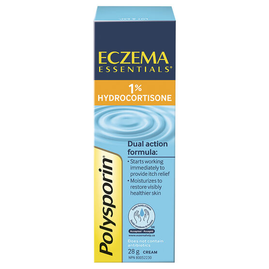Polysporin Eczema Essentials Cream - 1% Hydrocortisone - 28g