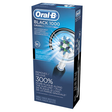 Braun Oral-B Black 1000 Cross Action Rechargeable Toothbrush - 12559