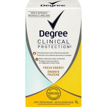 Degree Women Clinical Protection Anti-Perspirant Stick- Fresh Energy - 48g